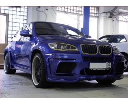 Обвес BMW X6 E71 в X6M Hamann Wide-body Dual exhaut