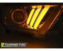 Передние фары FORD MUSTANG V 10-13 TUBE LIGHT CHROME