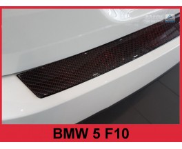 Накладка на бампер BMW 5 F10 Carbon (red)